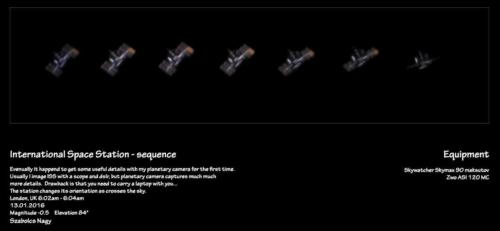 ISS sequence with misaligned solar panel