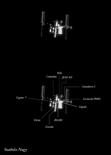 International Space Station (with markings)