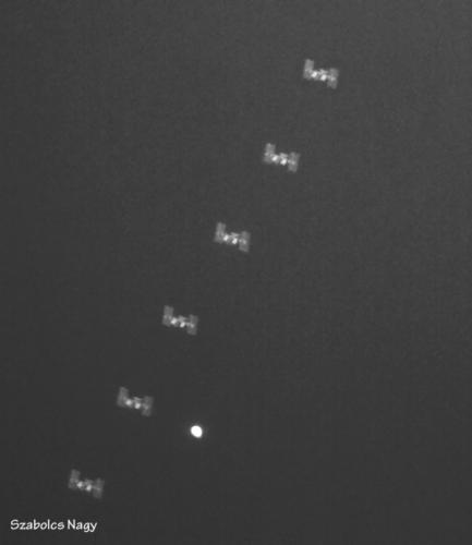 ISS near Venus composite photo