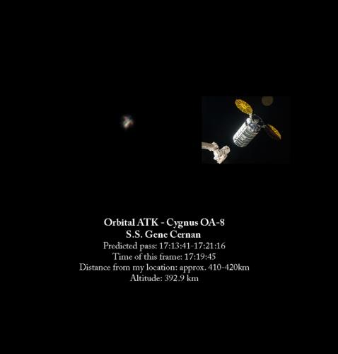 Cygnus OA-8 flying solo