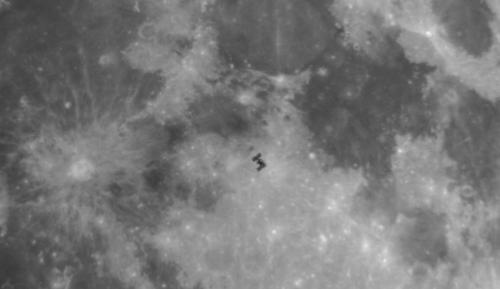ISS Lunar transit photo