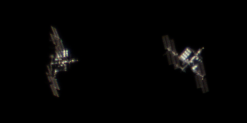 ISS and Soyuz MS-08 docked to the far side of the station photo