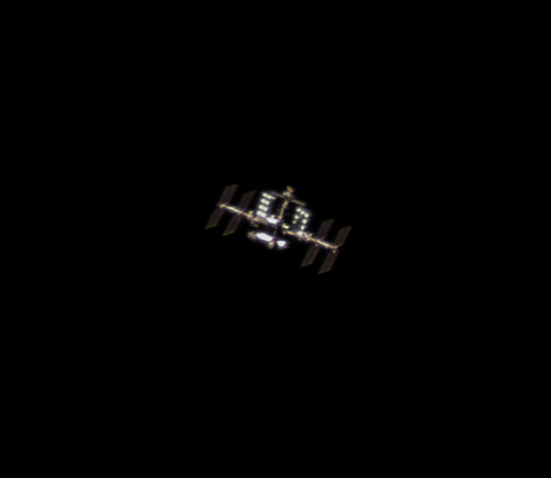 ISS and HTV-7 at amazing conditions photo