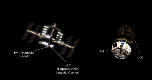 ISS and HTV-7 at amazing conditions comparison photo