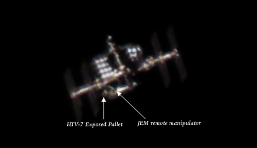 HTV-7 Exposed pallet on ISS