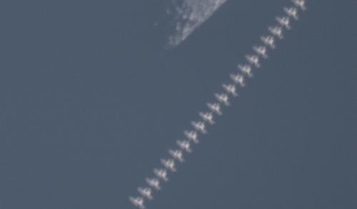 ISS near Moon