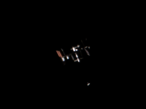 Soyuz MS-13 approaching the International Space Station