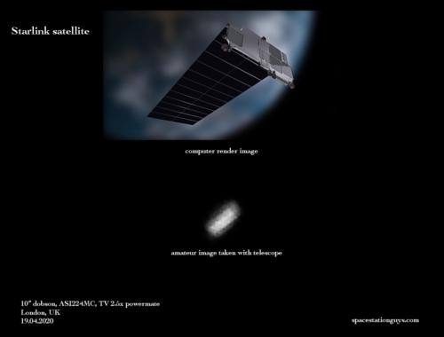 Starlink satellite close-up